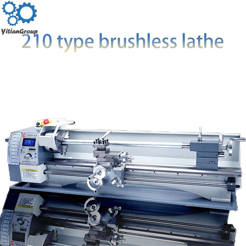 110V / 220V metal V210 torna ağaç işleme boncuk makinesi torna metal freze makinesi 80cm uzatıldı