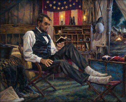 Nathan Greene DANS L'Darkest Hour Abraham Lincoln Civil War Home Decor Artisanats / HD huile d'impression Peinture murale sur toile Toile 200227
