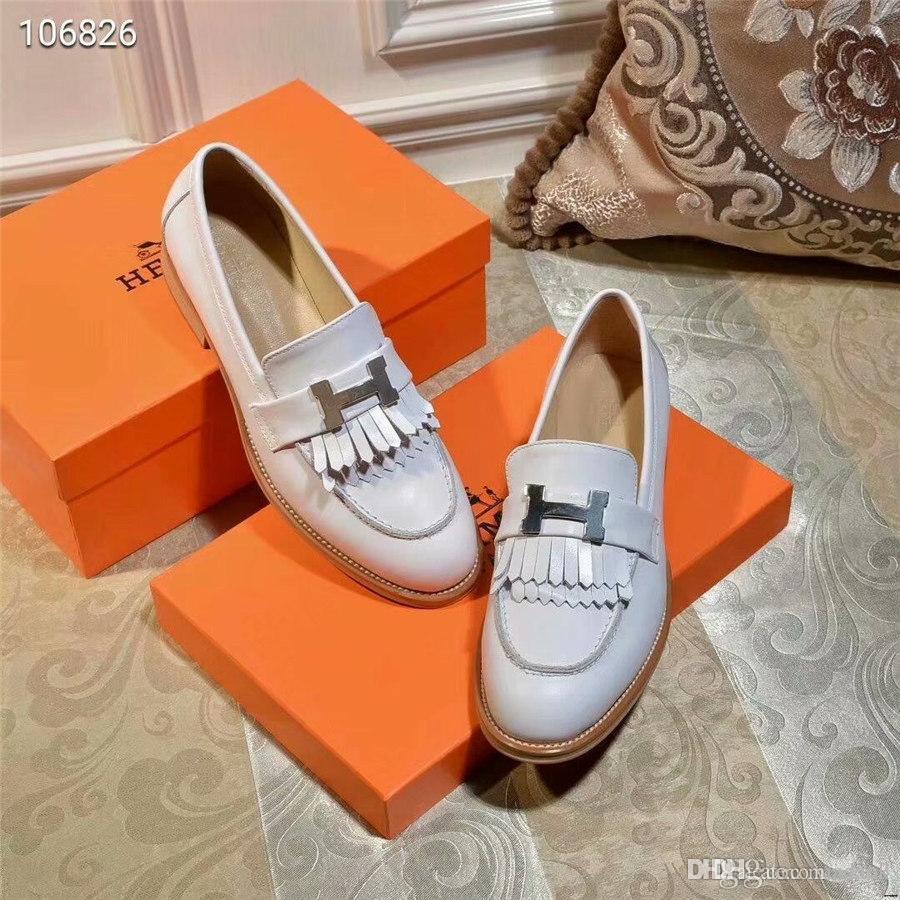 20FW 2019 zapatos de negocios mujeres bombea los zapatos de vestir de cuero tacones gruesos Bajos Bombas femenino ocasional punta estrecha bombea los zapatos YETC3 de Trabajo