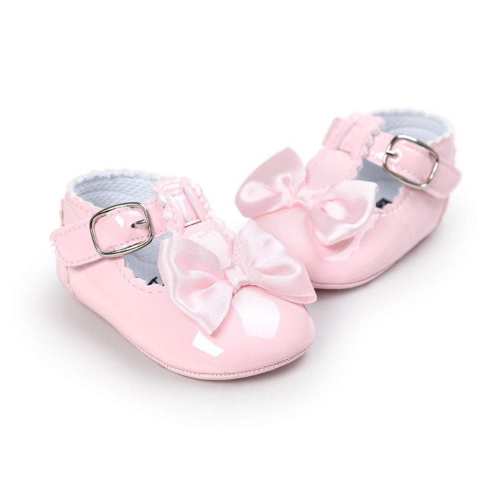 Pattini di bambino nuova unità di elaborazione di cuoio ragazzo della ragazza Primi pattini dei camminatori soft fondo antiscivolo scarpe di moda bowknot