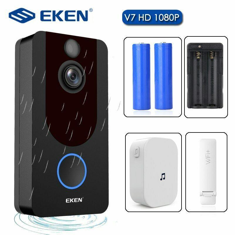 Ufficiale originale EKEN V7 Video campanello 1080p HD di visione notturna senza fili WiFi Security casa