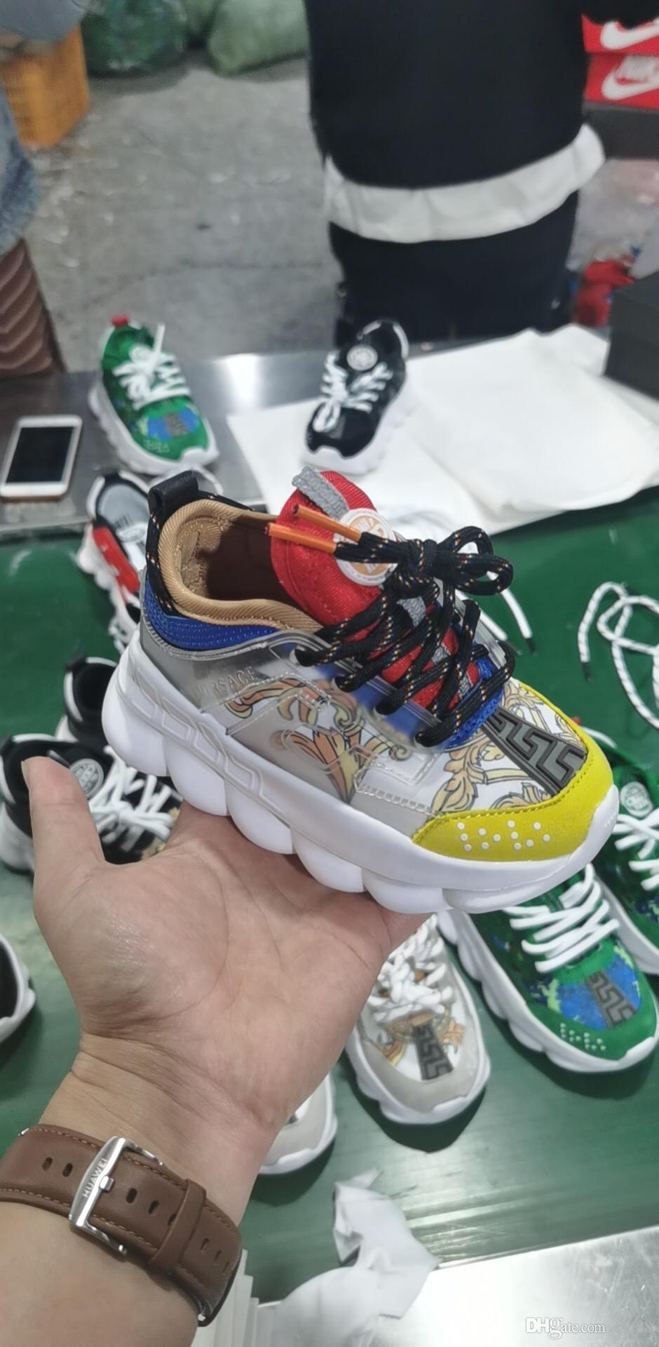 Versace 2020 zapatos de los niños de las muchachas de los deportes clásicos para niños de alta calidad de los zapatos corrientes del niño de las zapatillas de deporte Correr 28-35