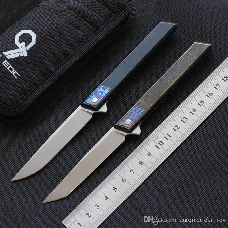 9TiEDC DJINN Flipper coltello da tasca lama pieghevole di alta qualità M390 titanio coltello da caccia della maniglia di campeggio delle lame di sopravvivenza strumenti di utilità EDC