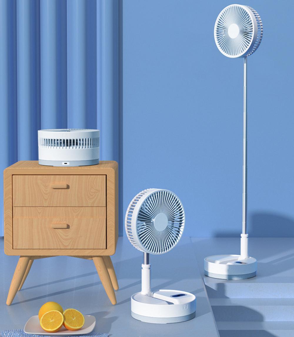 Nouveau ventilateur Telescopique Mini Fan USB Étudiant rechargeable portable petit lit de dortoir électrique de bureau de bureau grand de bureau grand vent
