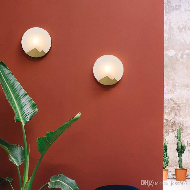 Duvar lambası Tüm bakır sözleşmeli duvar yatak odası koridor Modern duvar lambası stilist İskandinav oda yatak başlığı lambasını oturan