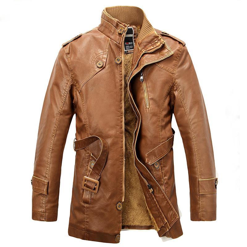 캐주얼 겨울 양털 재킷 코트 긴 섹션 가짜 모피는 PU 가죽 재킷 코트 트렌치 남성 코트 4XL을 따뜻하게 남성