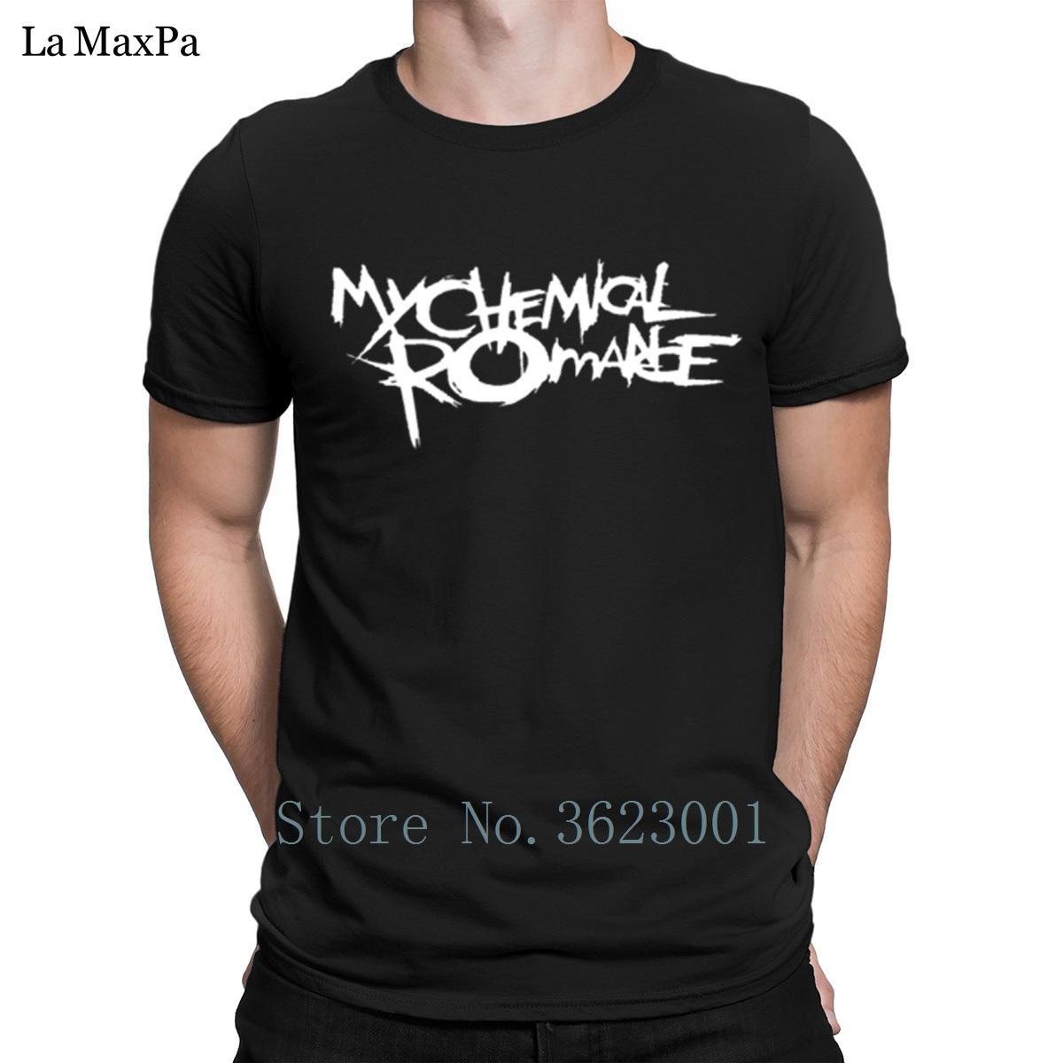 Diseña la camiseta de manga corta T-T estándar Camisa color sólido Chemical Romance Hombres básica de la camiseta enrrollada de los hombres de la camisa anti-arrugas