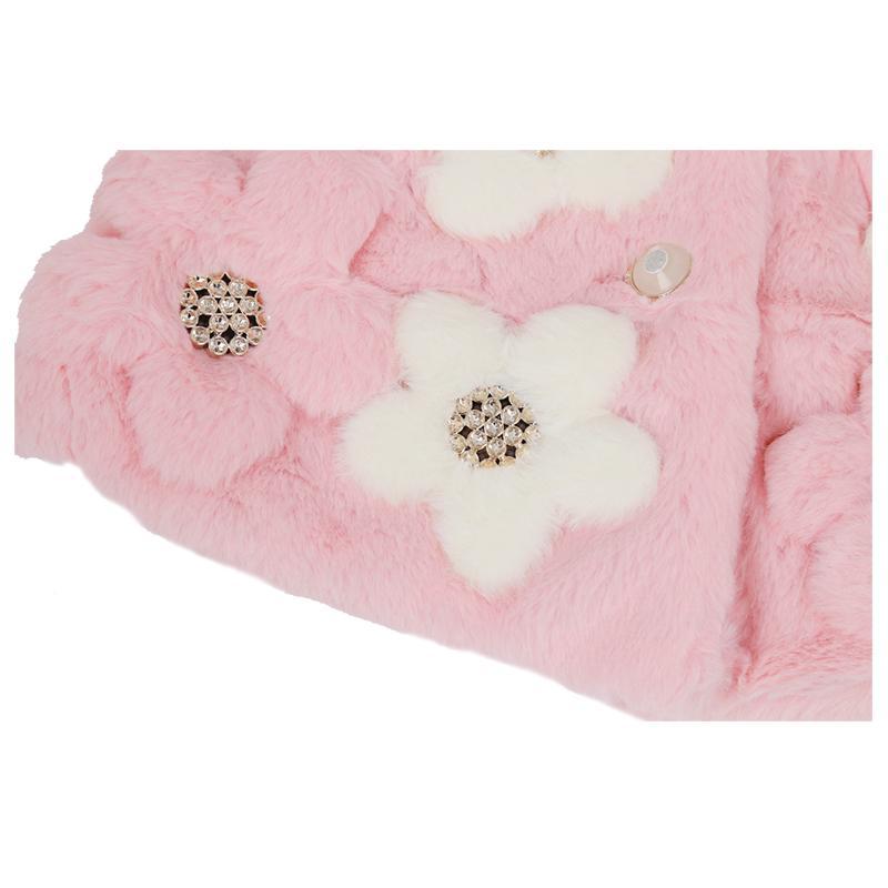 Girl Baby Winter Warm Toddler Jacket Snowsuit Xmas Outwear Flower Coat pink-110cm