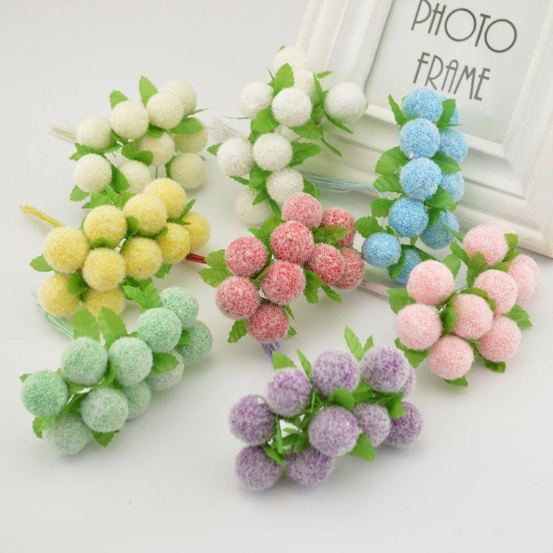 50pcs artificial de espuma baya flor Estambre álbum de recortes para la artesanía de la caja decoración de la boda Inicio Materiales novia Accesorios de la muñeca