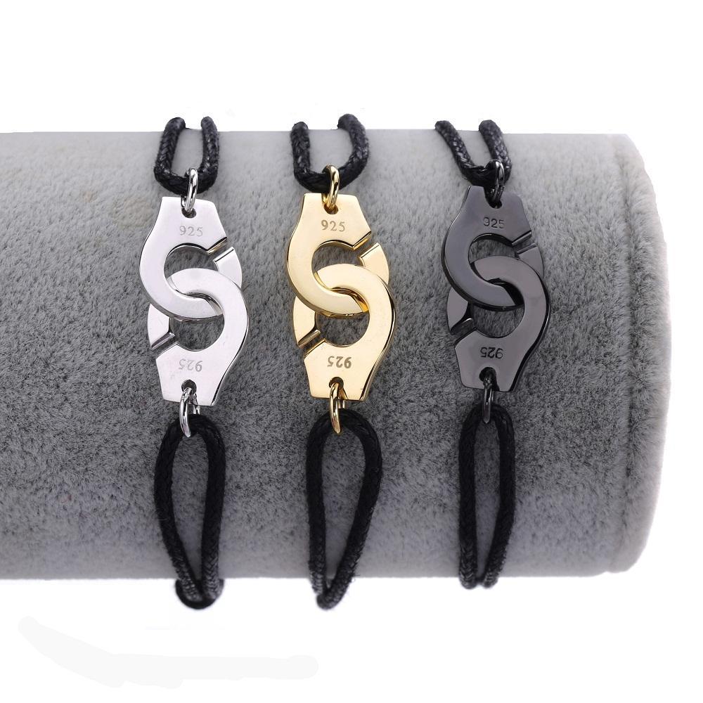 Оптовая цена Франция известная марка ювелирных изделий Динь Ван Браслет для женщин Мода ювелирные изделия стерлингового серебра 925 Rope Handcuff Браслет Menottes