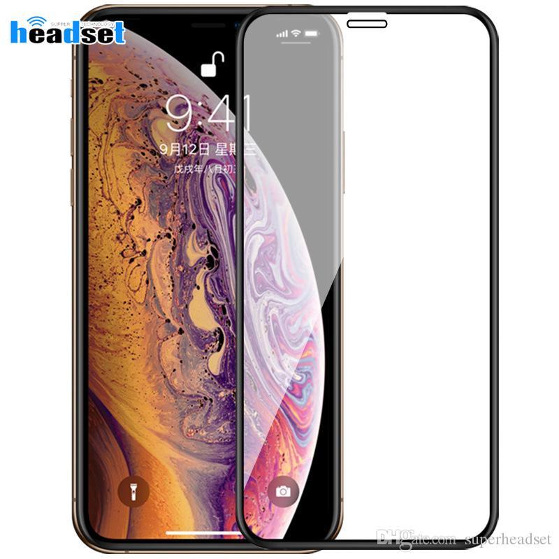 Для iphone 11 про макс XS Max XR X 7/8 плюс 10D искривленном полное покрытие из закаленного стекла протектор экрана с пакетом