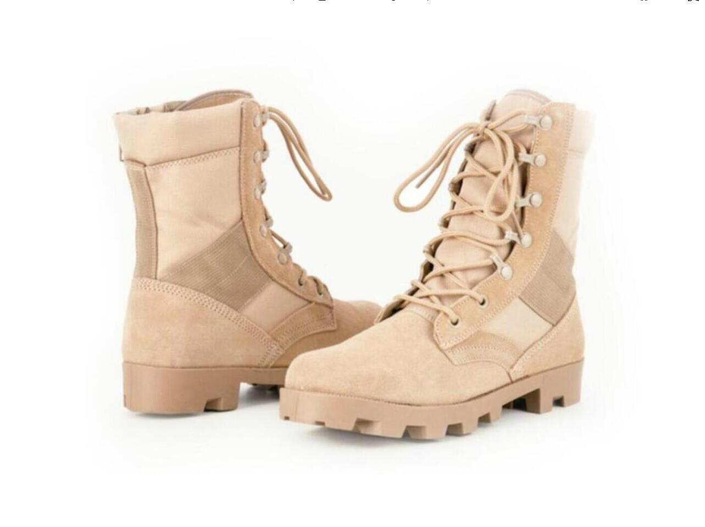 heißen Verkauf Tarnung Militärstiefel zum Soldaten taktischer Stiefel Feldschlacht hoch Wüste Herbst Winter Produkt Bergschuh RRMALL