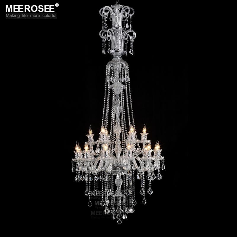 Contemporary Clear Crystal chandelier lights Galaxy Long Cristal suspension lamp Glass lighting fixture 100% Guaranteed lustre