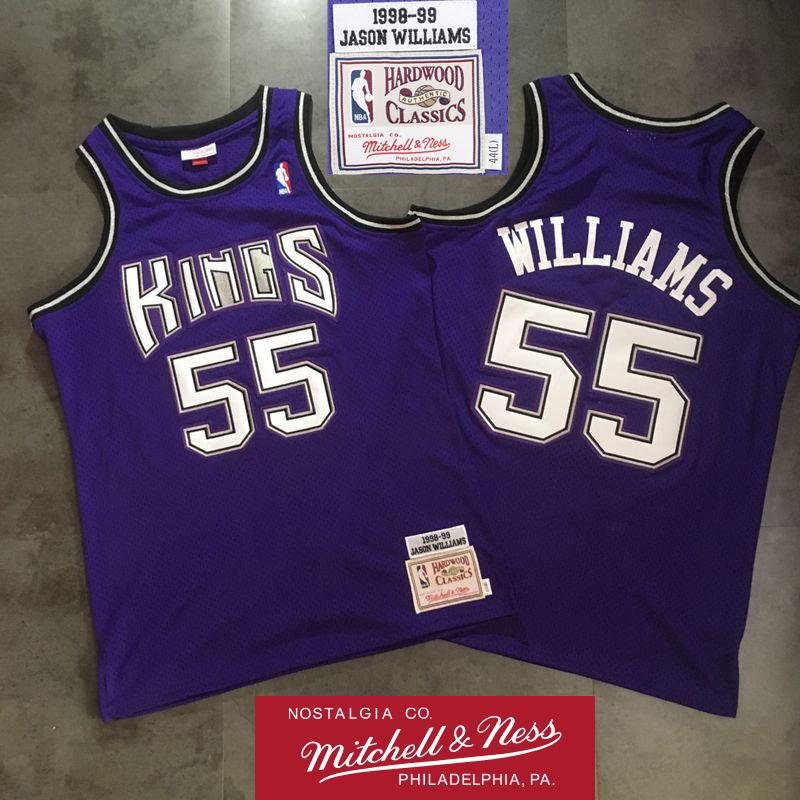 the latest 31b56 259fd 2019 Mens Jason 55 Williams 1998 99 Alternate Authentic Swingman Jersey  Retro Mitchell & Ness Hardwoods Classics HWC Swingman Basketball Jersey  From ...