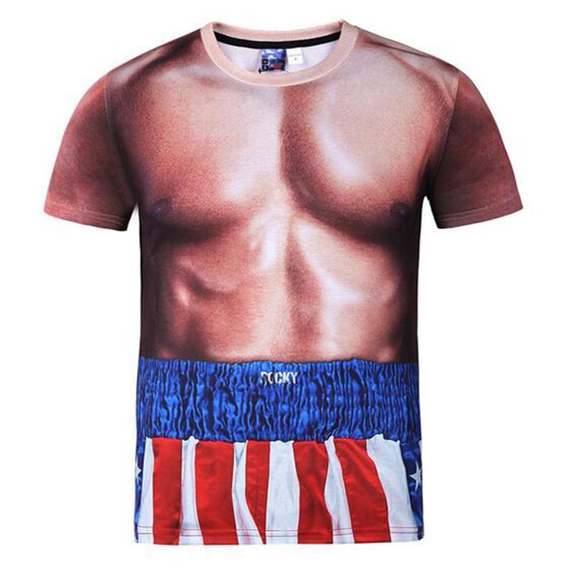 New Fashion Couple Homens Mulheres Muscle engraçado 3D Imprimir Casual Não Cap verão camiseta t-shirts t-shirt Tops
