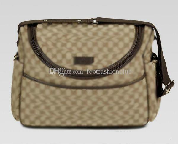 Multifuncional momia de maternidad bolsa de pañales de enfermería bolsa de mensajero bolsas impermeables cochecito de bebé Mochila Diseñador Cochecito