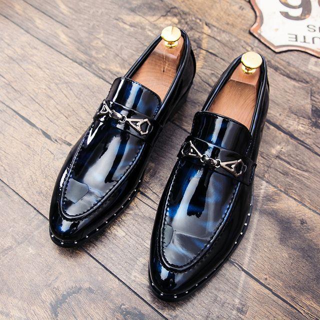 Мокасины Оксфорд Обувь Для Мужчины Свадьба Обувь Мужчины Указал Обувь Мужская Парикмахерская Мода Хомбре Хомбре Мужчины Charol Скарпе Скарпе