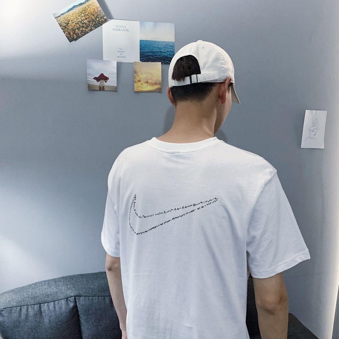 2020 высокое качество мужчины с коротким рукавом летняя мода футболка повседневная удобная круглая шея футболка модная одежда 302AK896