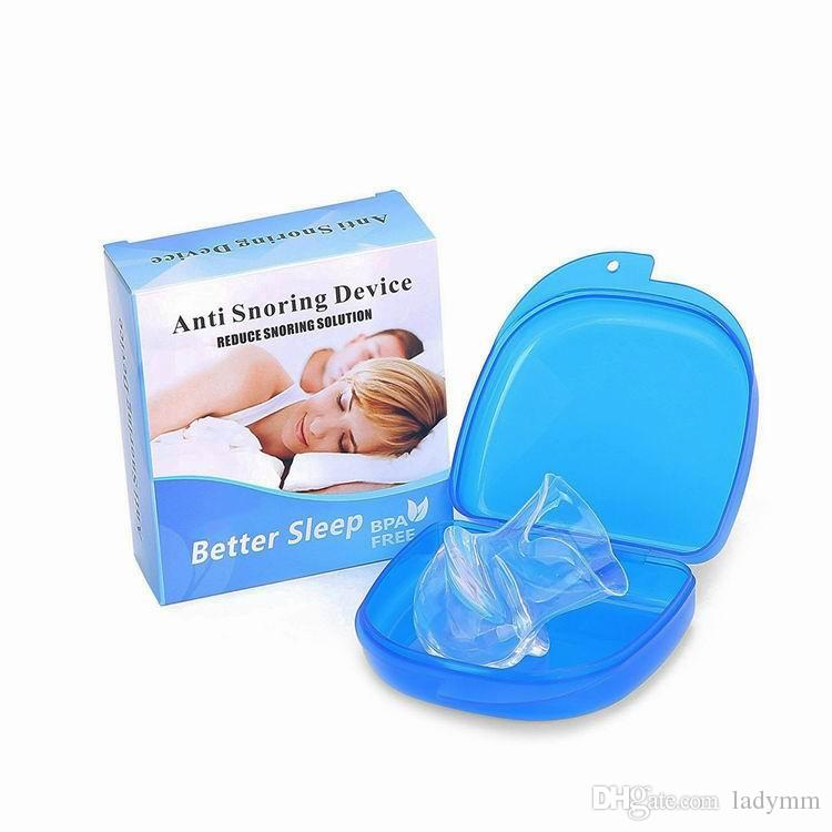 NEW Health Care Silicone Anti Snoring Tongue Retaining Device Snore Solution Sleep Breathing Apnea Night Guard Aid Stop Snore