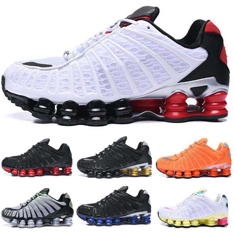 Nike shox Negro y Oro Negro para hombre de los zapatos corrientes de Bule TL transpirable zapatillas Negro Blanco deportes al aire libre para caminar Chaussures R4 Formadores