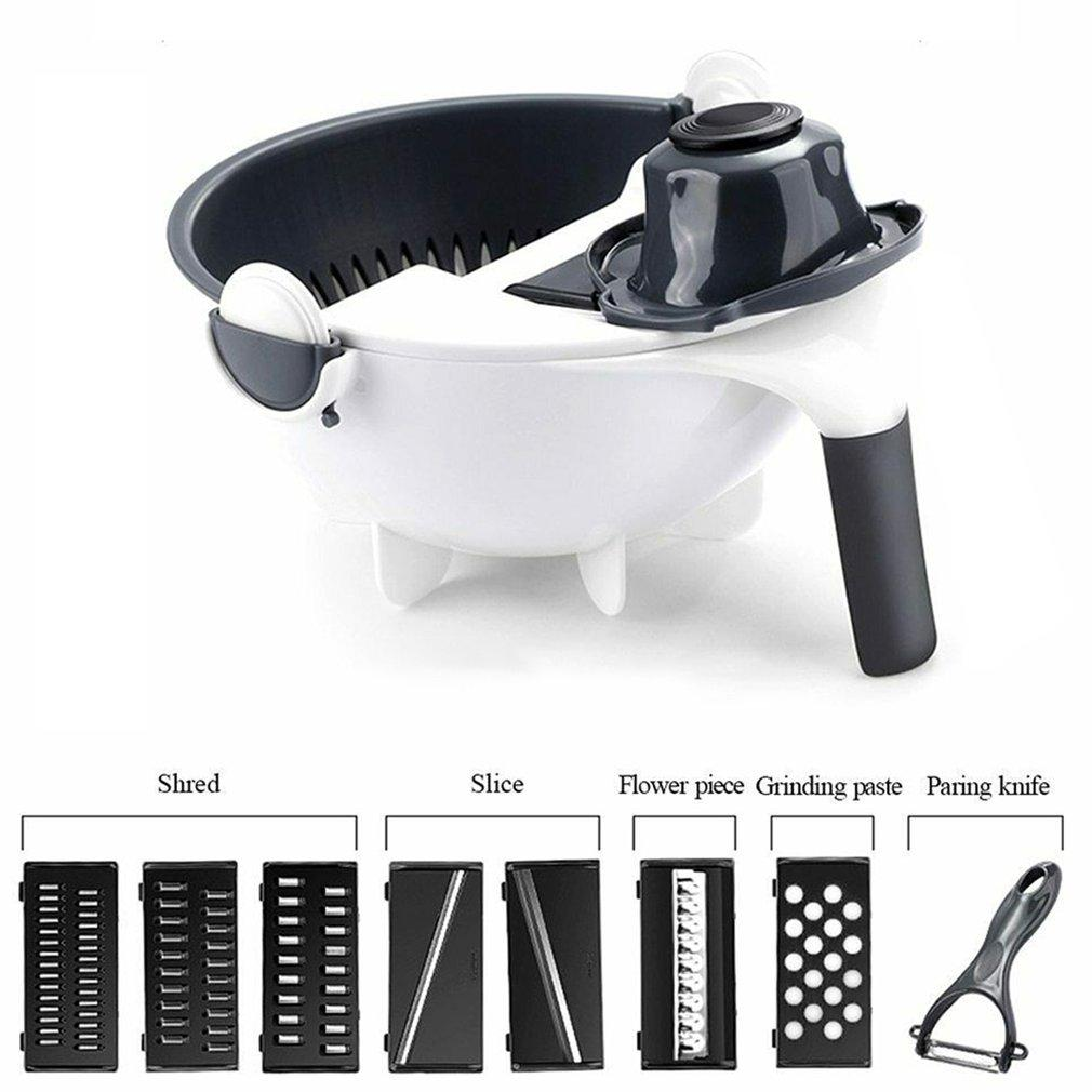 All-In-One Chopper Strainer Multifunction Rotate The Vegetable Cutter Slicer Professional Fashion Portable
