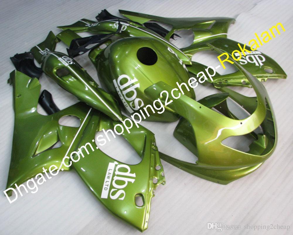 97-07 Carénage ABS de kit de rechange pour moto Yzf600R pour Yamaha Yzf-600R Thundercat 1997-2007, carénage de moto verte à la mode