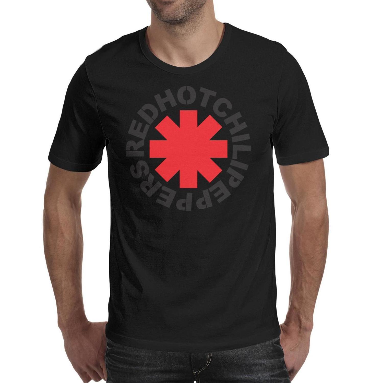 Mens Fashion Red Hot Chili Peppers RHCP preto Rodada pescoço camisa t engraçado Faça um shirts Coração X Ray Asterisk Poster design criativo legal
