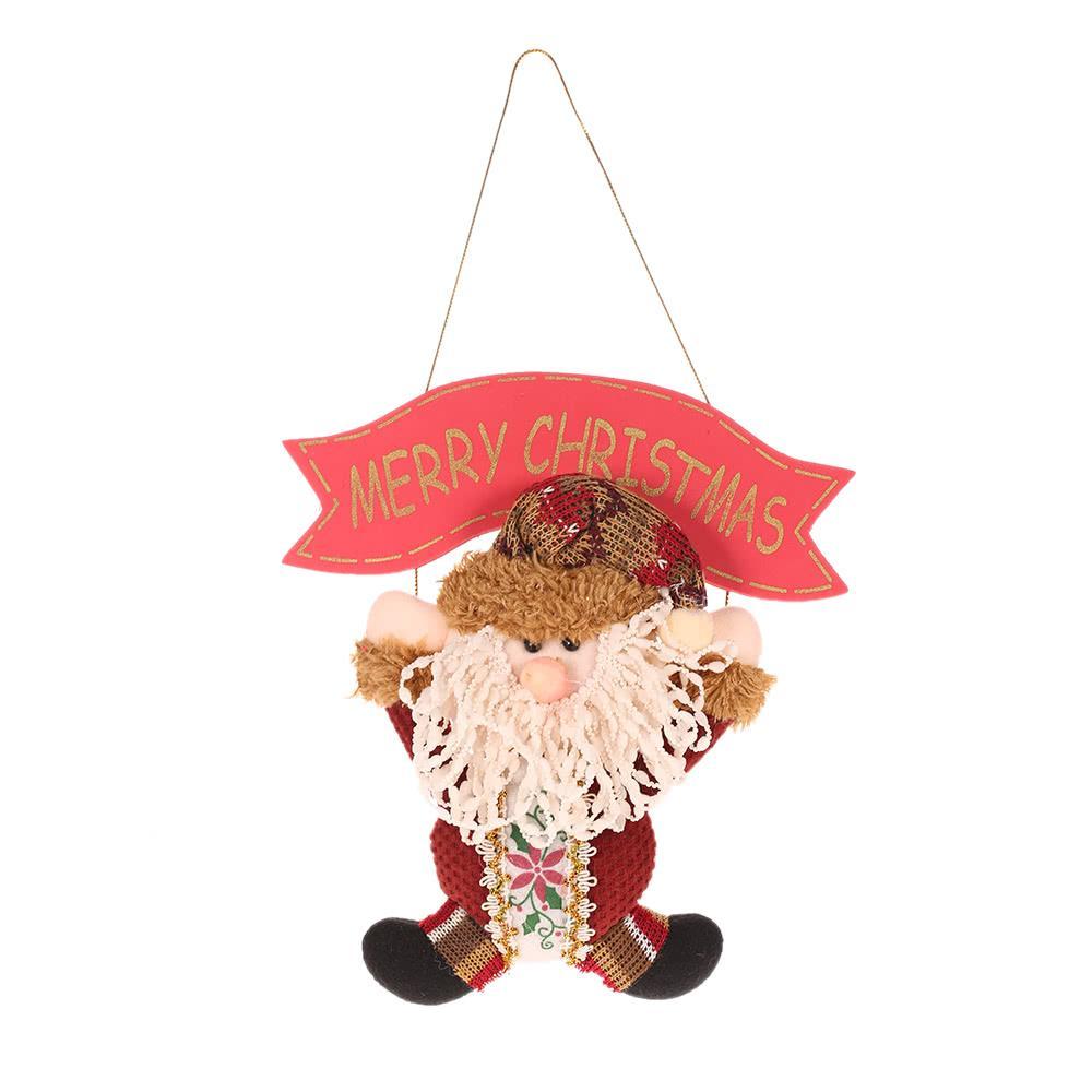 Festnight Adorável Papai Noel do Natal do boneco de neve pendurado pingente ornamento Xmas Tree Porta Decor Festival decorações do partido