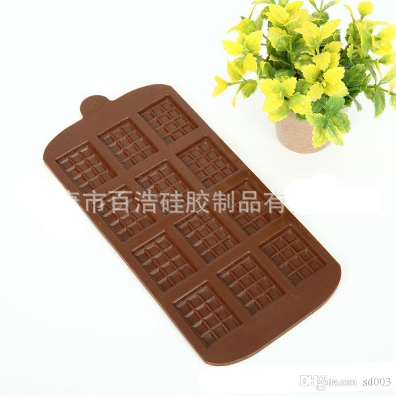 Chocolate Mold Silicone Molds Cake Tools DIY Waffle Candy Bar Kitchen Baking Accessories Making Dessert 2bh F1