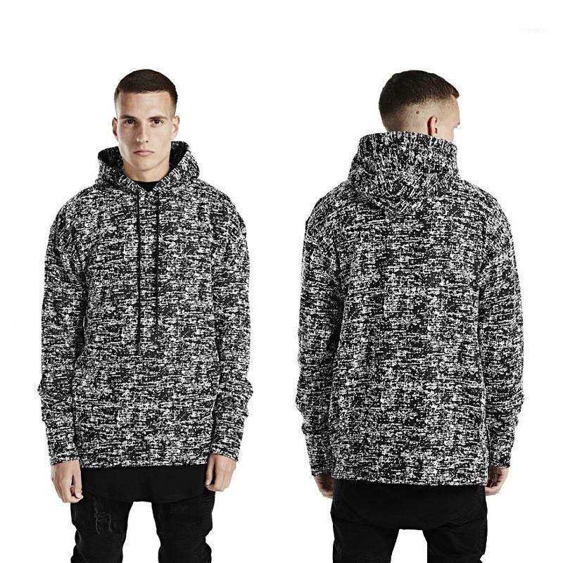 Mode Longue Neige Imprimer Glissière Latérale Tôlé Hommes Hoodies Casual Hommes Vêtements Tôlé Hommes Designer Hoodies
