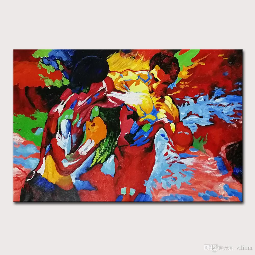 Mintura Art Ручная роспись холст живопись искусства плакат абстрактные боксерские картины маслом Мондерн настенные фотографии для гостиной домашний декор нет оформленных