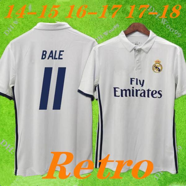 Real madrid 2016 2017 RONALDO Retro futbol forması BENZEMA futbol forması 2014 JAMES Vintage Camiseta de fútbol Sergio Ramos BALYA Maillot