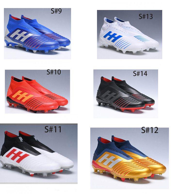 Sconto Predator 19 + FG x Pogba virtuso scarpe da calcio dei capretti Archetic alte chuteiras de Futebol Bambini Gioventù Maschile calcio bitte Boots