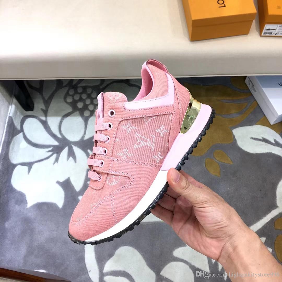 la lastest Luxury83ss RUN cuero auténtico LEJOS Designered las zapatillas de deporte ocasionales de la manera zapatos de las mujeres formadores mujeres color mezclado