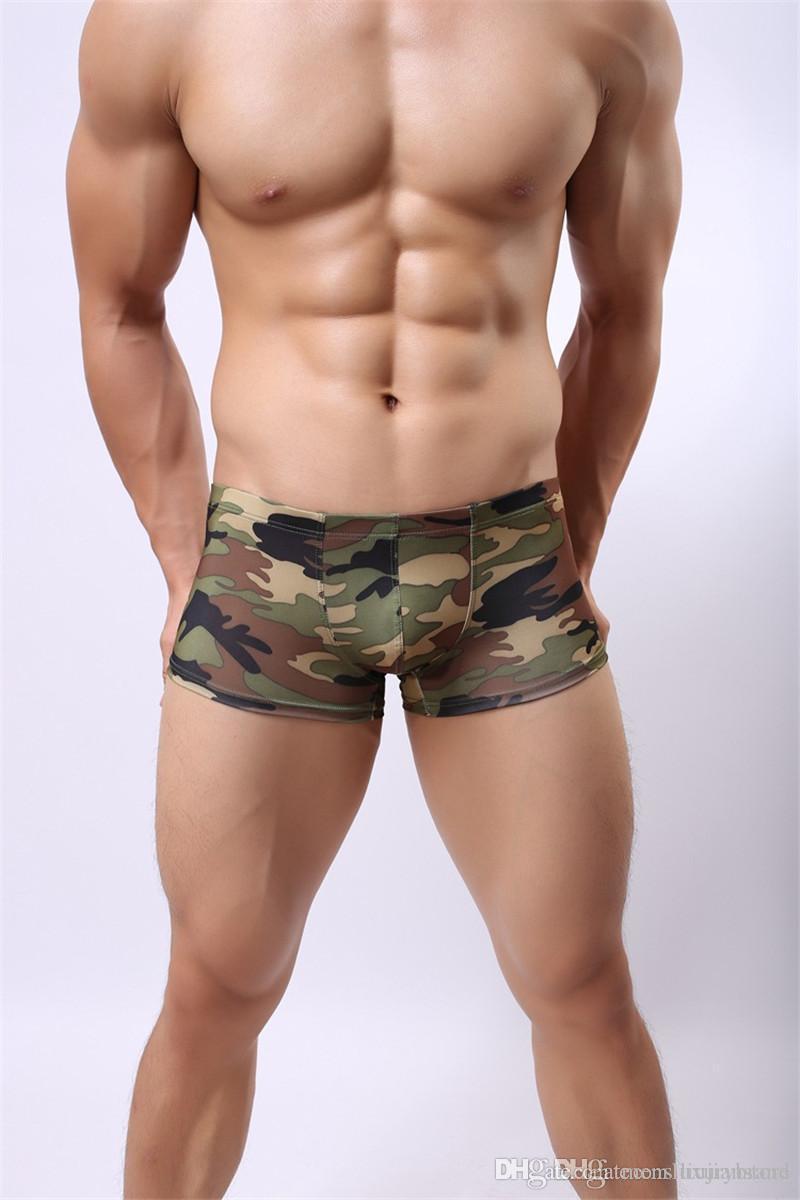 مصمم أزياء الرجال الملاكمين ليوبارد طباعة داخلية الصيف مثير الملابس السروال