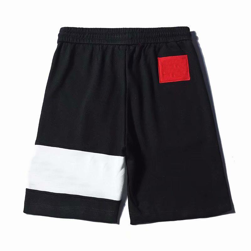 편지 자수가있는 19 세 남성 디자이너 반바지 자수 고품질 반바지 패션 여름 짧은 바지 스웨트 팬츠 편안한 옴므 옷 검은 빨강