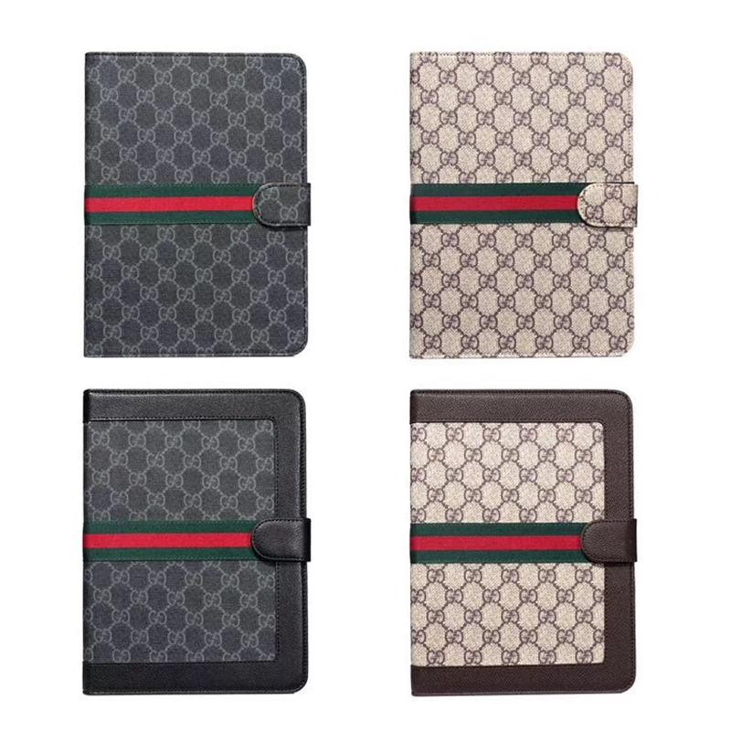 For Ipad Luxury Case for Ipad mini /1/2/3 Fashion Vintage Grid Case PU Leather Tablet Phone Cover for Ipad Air 10.5 10.2 Pro 12.9 Inch Cases