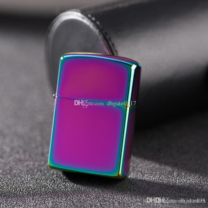Оптовая продажа-специальная зеркальная пластина яркая хромированная металлическая керосиновая зажигалка прикуриватель рекламные подарки зажигалка DHL бесплатная доставка