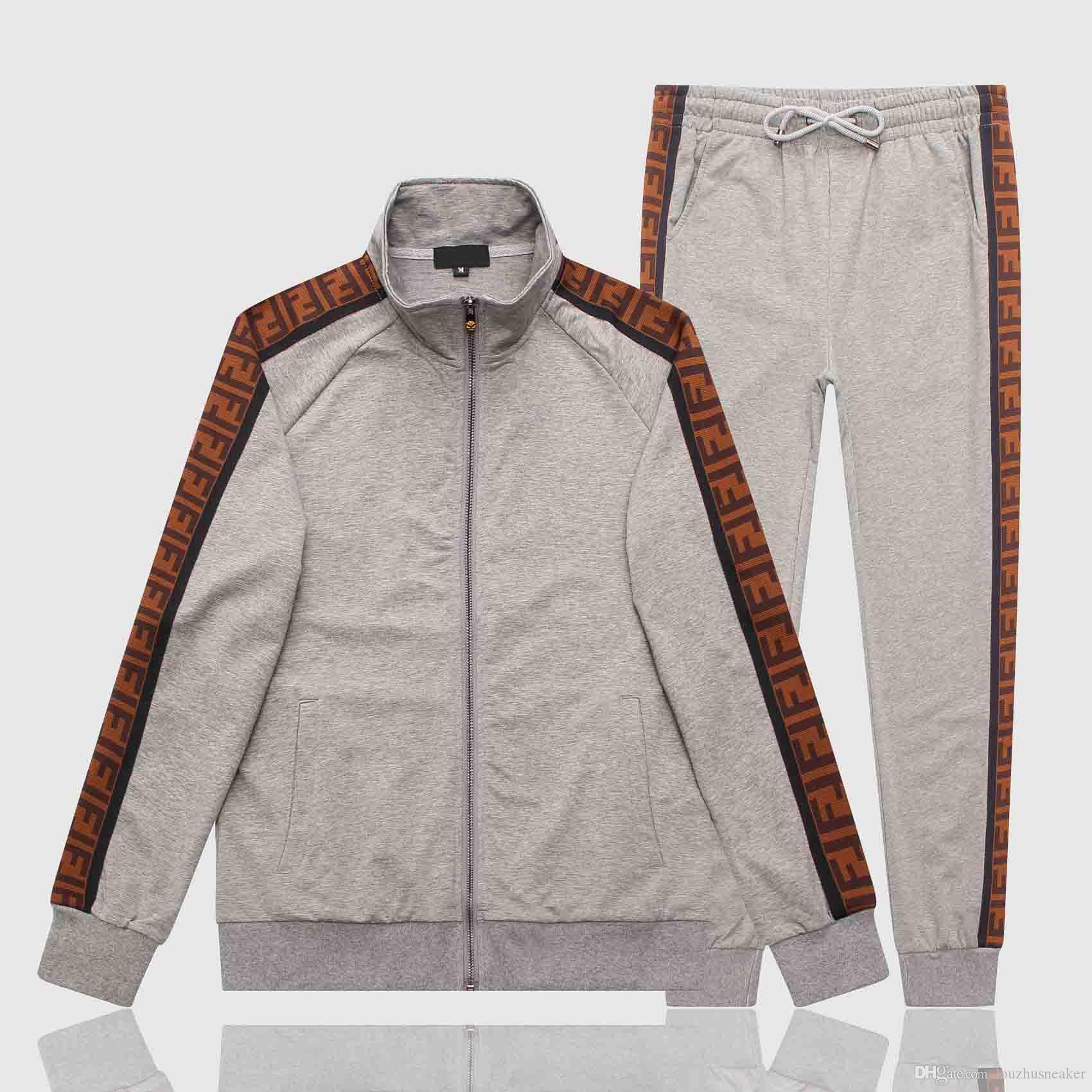 Atacado Paris Europa e nos Estados Unidos nova Medusa sportswear sportswear zíper completo de alta qualidade Medusa sportswear terno dos homens