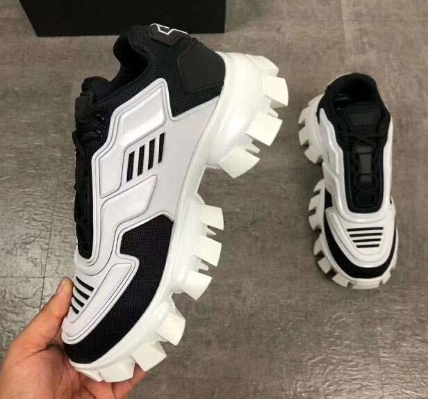 Cloudbust Thunder Örme Sneakers Mens lüks Tasarımcı gündelik ayakkabı Klasik Casual Ayakkabı Kumaş Kauçuk Eğitmenler Açık B111 mens