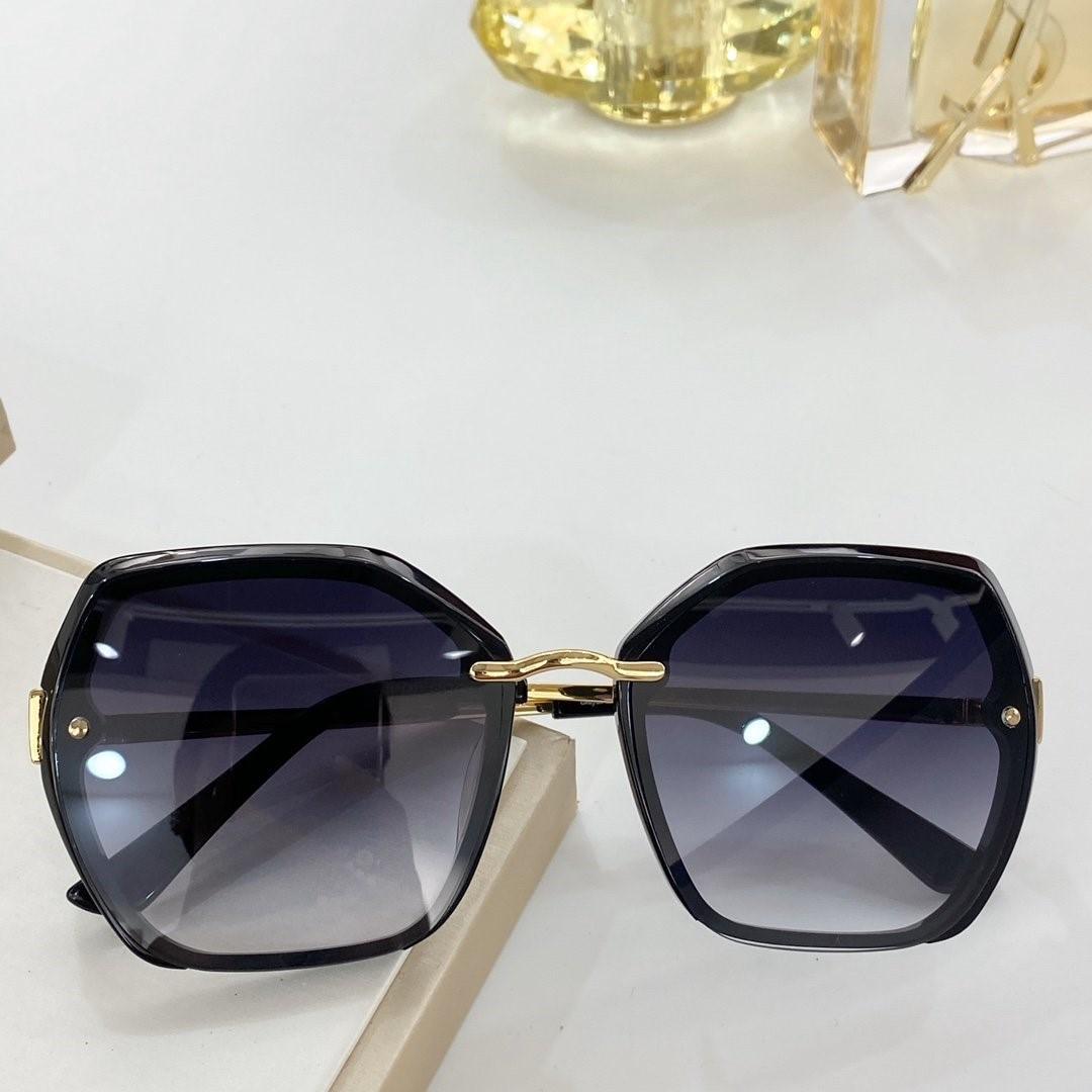 Luxo 2020 óculos de sol novos de tamanho irregular Moda Feminina 8081 tendência 55-22-145