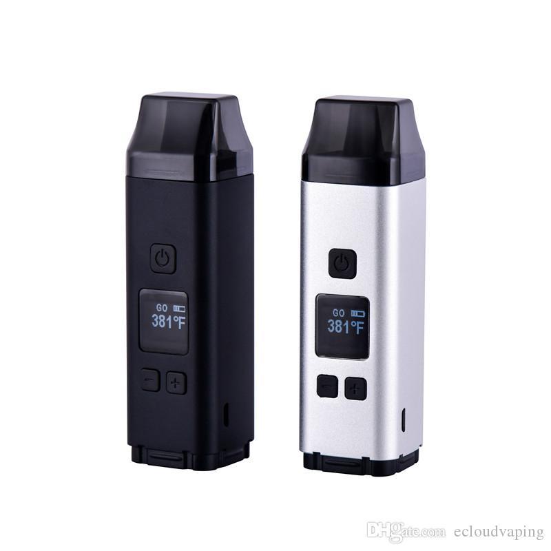 SQUARE 의료 허벌 기화 도구 키트 2200mAh 배터리 온도 제어 TC 모드 OLCD 화면 왁스 건조 허브 분무기 vape 펜 담배
