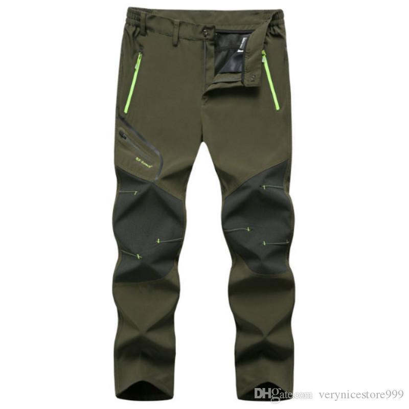 Hommes 6XL Nouvelle saison estivale chaude Randonnée Trekking Pêche Camping Pantalon Run Run Plus Taille Surdimensionné Imperméable En Plein Air Pantalon