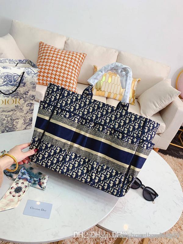 2020 alta qualità di modo delle borse delle donne signore di disegno SOLIDO Colore alfabeto RICAMO bracciale a catena PORTAFOGLIO PELLE TRACOLLA BORSE A740