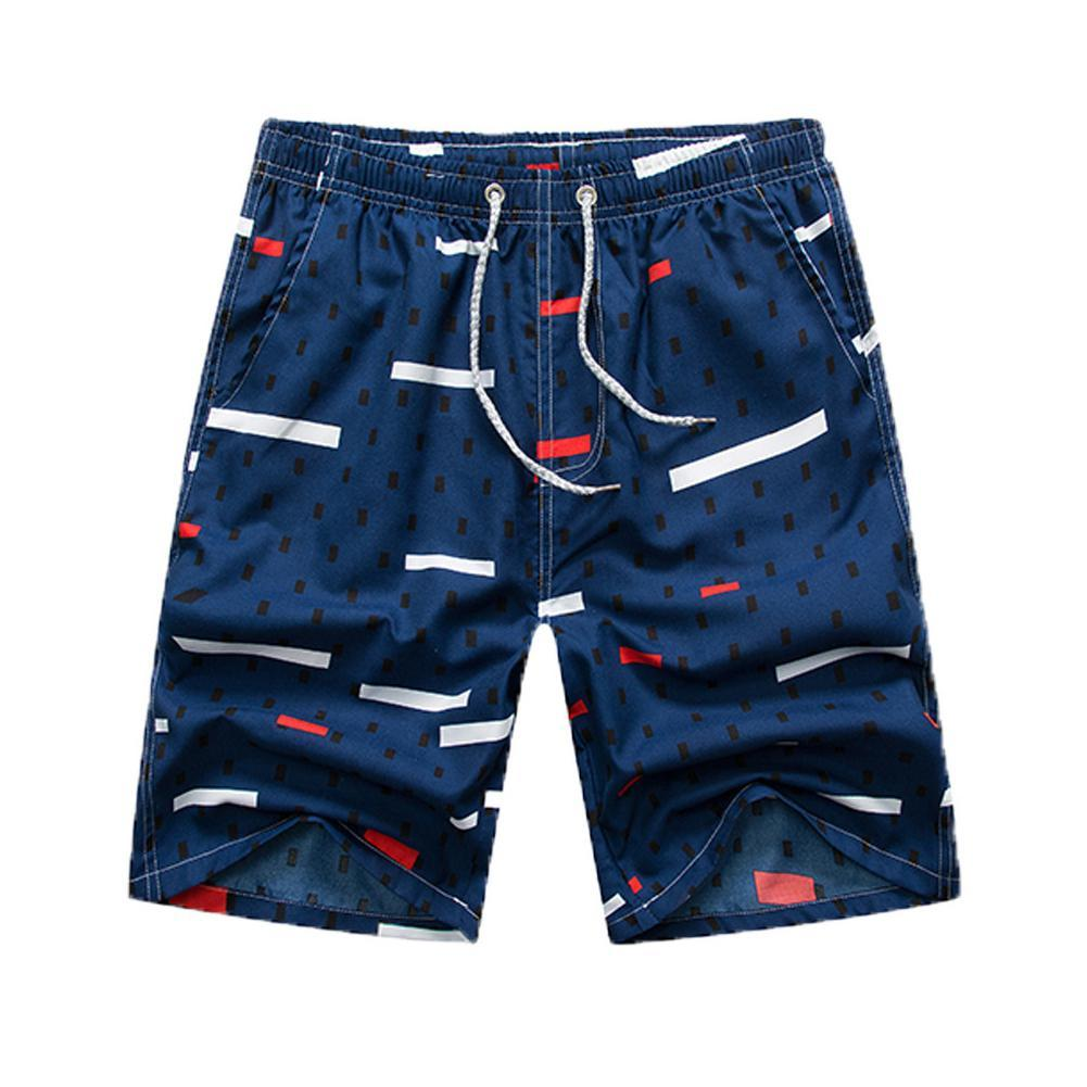 Men's Shorts MISSKY Men Summer Swimwear Quick-drying Printing For Surfing Beach Wear Male Clothes