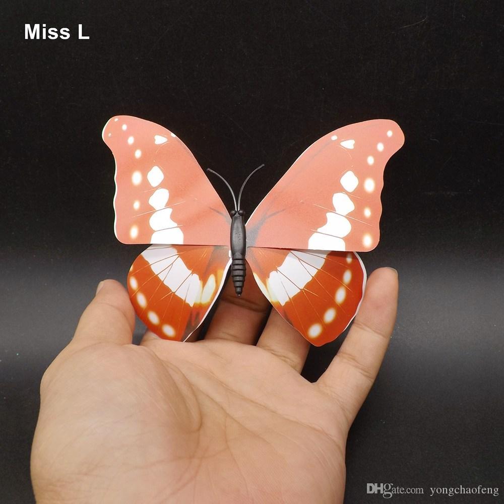 PVC الفراشة مغناطيس DIY لعبة الوسائل التعليمية نموذج لعبة طفل
