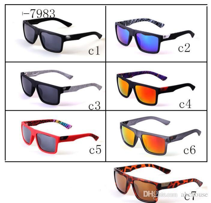 7 Colors Sports Sunglasses The Danx Hot Sale Driving Goggles Reflective Lenses Inside Temples Printing Wholesale Sun Glasses Fox
