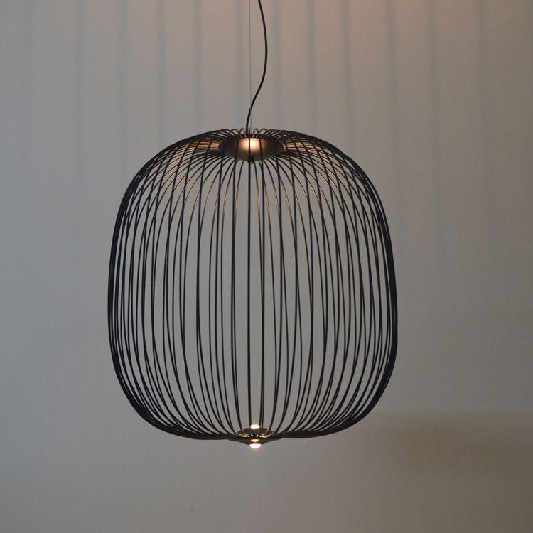 Odası Dekor Yemek Lambası Demir Sanat Loft Endüstriyel Metal Kuş Kafesi Süspansiyon armatürü Asma Kolye Işıklar Modern Led