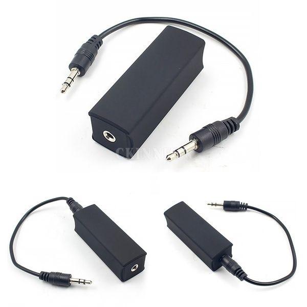 100pcs التي / لوط / لوط حلقة الأرضي الضوضاء تصفية المعزل 3.5mm AUX الكابل صوت ستيريو الصفحة الرئيسية لنظام السيارات