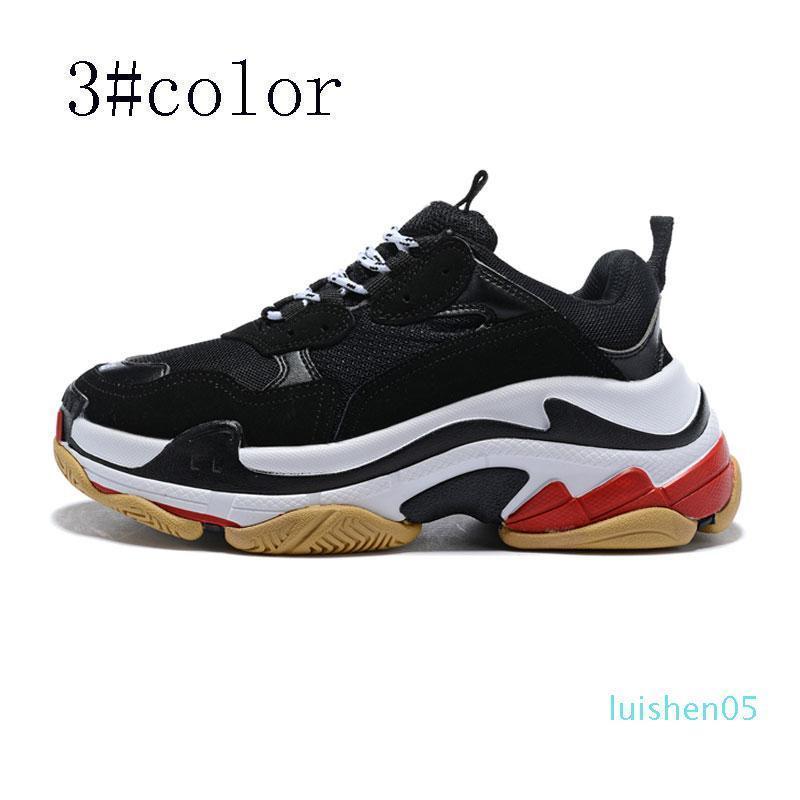 Os últimos Designer de Moda Calçados Moda Paris 17 FW Casual de Triple S Sneaker Mens Mulheres Preto Sports brancas tênis rosa AL05 Tamanho